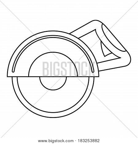 Cut off machine icon in outline style isolated on white background vector illustration