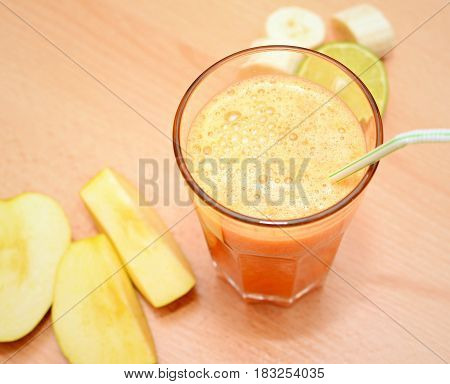 Fruit Smoothie In A Glass