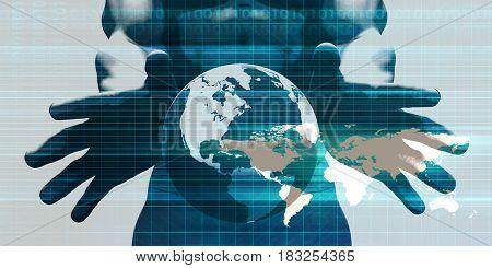 Disruptive Technologies or Technology Disruptor as a Concept 3D Illustration Render