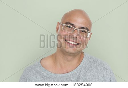 Asian Man Smiling Positive Cheerful