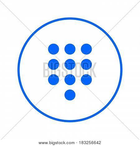 Dialpad numeric keypad circular line icon. Round colorful sign. Flat style vector symbol