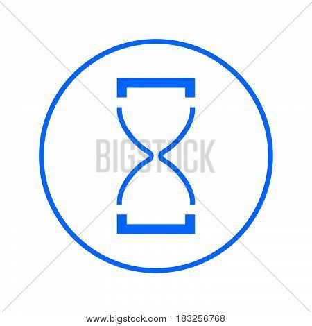 Hourglass circular line icon. Round colorful sign. Time flat style vector symbol