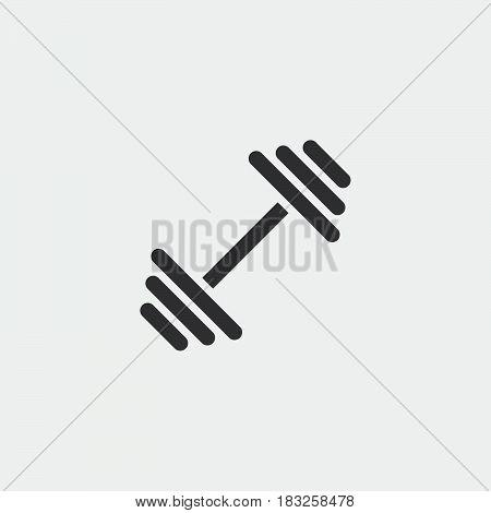 dumbbell icon isolated on white background .