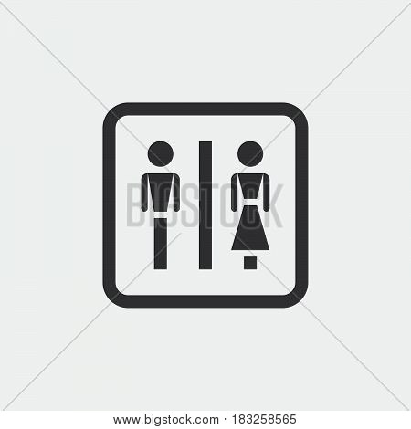 wc icon isolated on white background .
