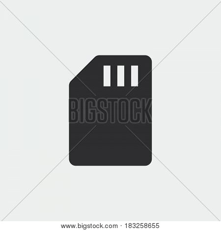 sd card icon isolated on white background .