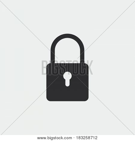lock icon encryption symbol isolated on white background .