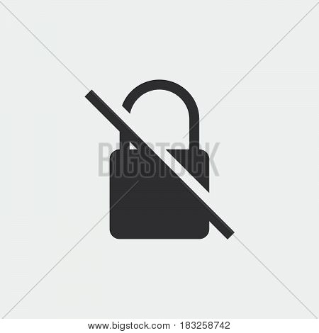 no encryption icon isolated on white background .