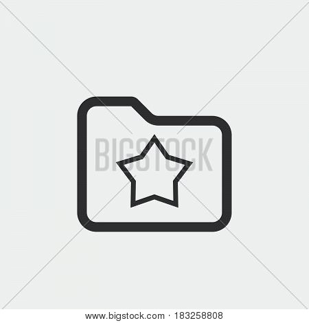 favorite folder icon isolated on white background .