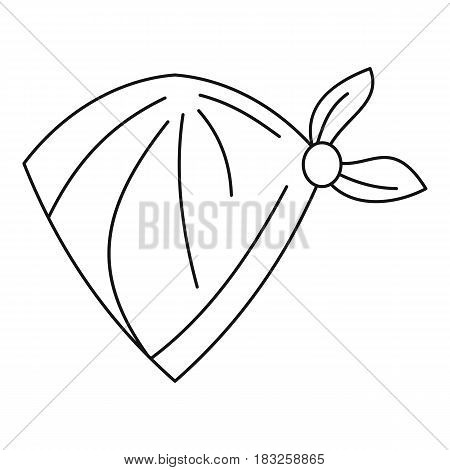 Cowboy neckerchief icon in outline style isolated on white background vector illustration