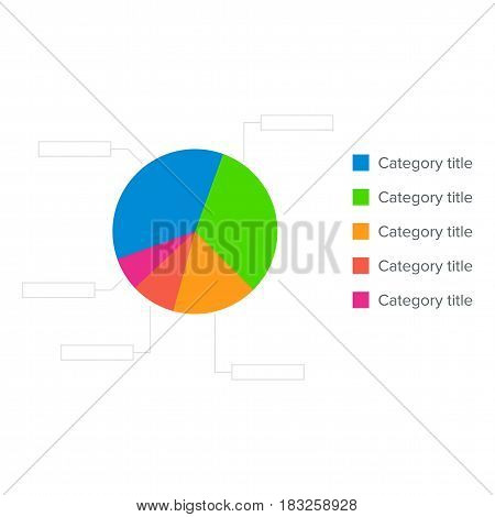 Colorful Business Pie Chart for Your Documents, Reports and Presentations. Concept for business graphic.