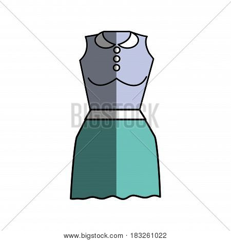 casual blouse and short skirt cloth, vector illustration design