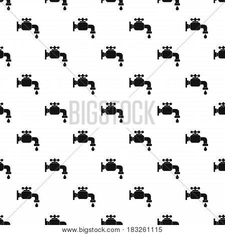 Water tap pattern seamless in simple style vector illustration