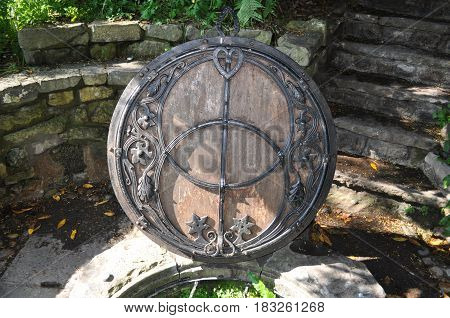 Glastonbury Chalice Well in Glastonbury, Somerset, England, UK.