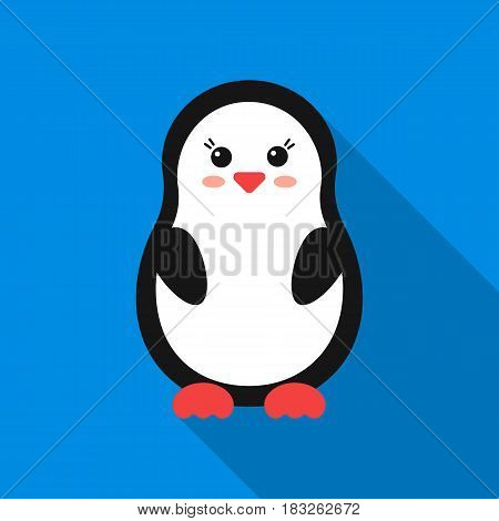 Penguin flat icon. Illustration for web and mobile.
