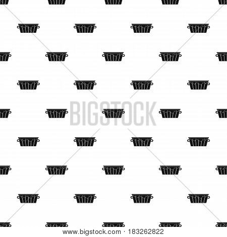 Wooden tub pattern seamless in simple style vector illustration