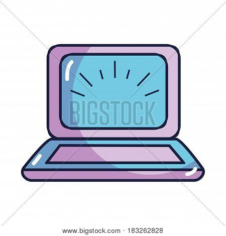 laptop knowledge online to help to study, vector illustration