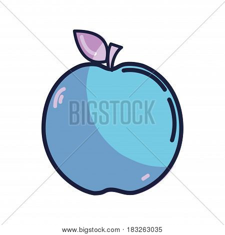 delicious apple fruit taste icon, vector illustration