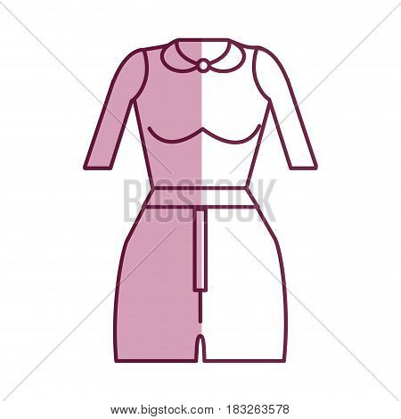 fashion blouse and short cloth style, vector illustration