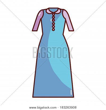 long dress cloth style, vector illustration design