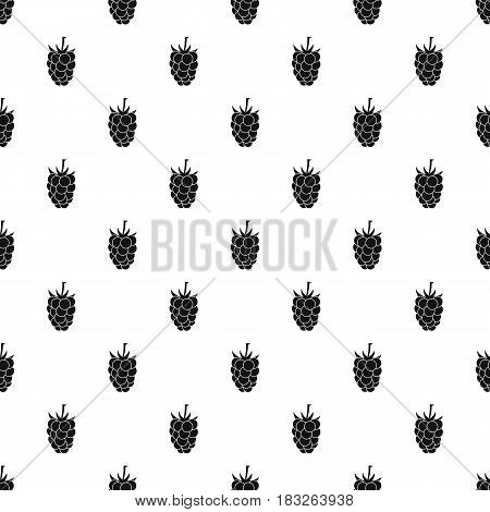 Blackberry fruit pattern seamless in simple style vector illustration