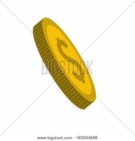 gold coin money save, vector illustration design