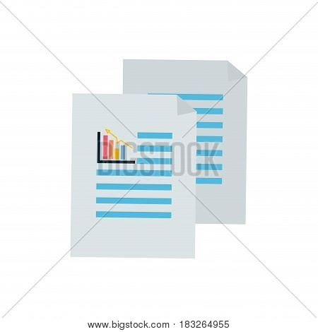 business statistics strategy data documents, vector illustration