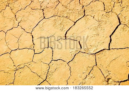 Cracked ground caused by drought in summer, detail textured and background