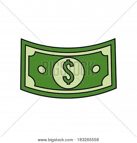 green bill dolar money, vector illustration design