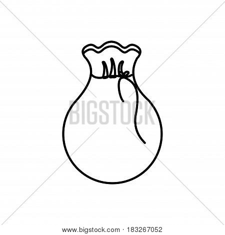 silhouette bag with money inside, vector illustration design