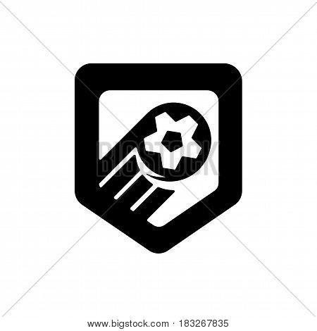 Football championship banner. Vector illustration of abstract soccer ball for your design. Soccer symbol with ball