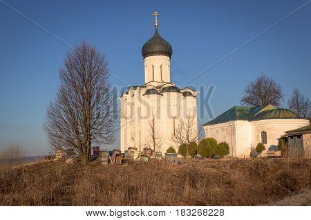 Church Apiary, At The Foot Of The Temple In The Early Spring Morning