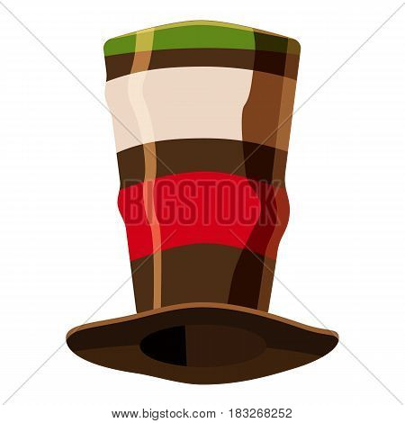 Italian fan soccer hat icon. Cartoon illustration of Italian fan soccer hat vector icon for web