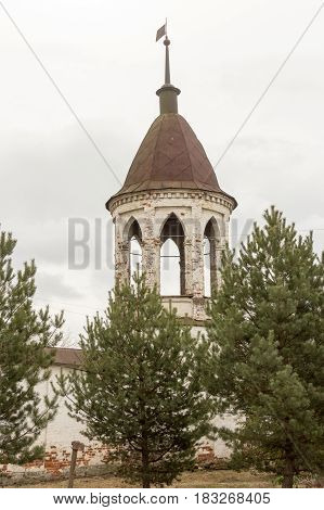 Corner Tower Of Monastery Of Archangel Michael, Yuryev-polsky, Russia