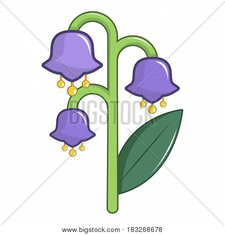 Blue bell flower icon. Cartoon illustration of blue bell flower vector icon for web