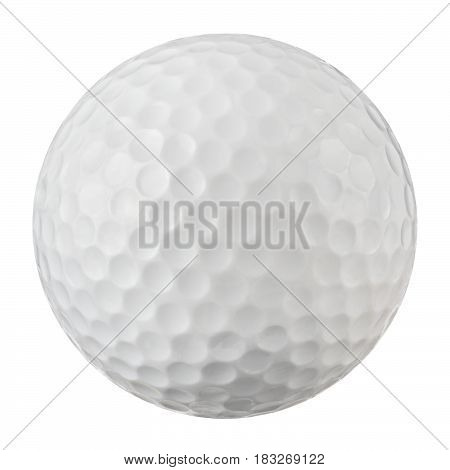 Golf ball macro closeup with dimles pattern