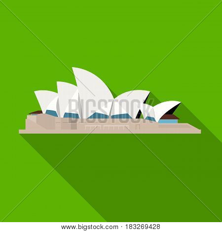 Sydney Opera House icon in flat design isolated on white background. Countries symbol vector illustration.