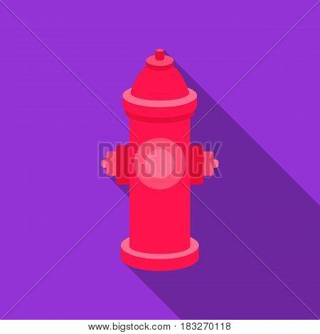 Hydrant vector illustration icon in flat design