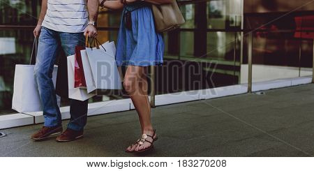 Couple shopping dating together