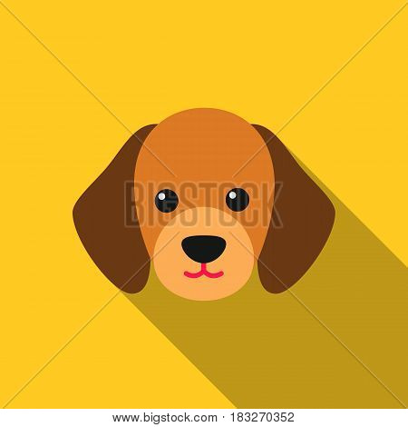 Dog muzzle vector illustration icon in flat design