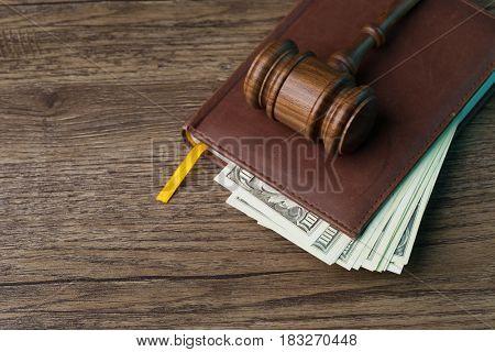 Hammer chairman, folder with bills