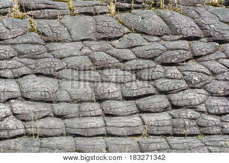 Sun Crack rocks at Phu Hin Rongkla national park Phitsanulok Thailand
