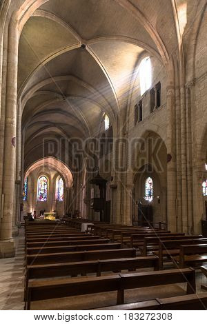 Paris, France, March 26, 2017: Paris the Church of St. Peter in Montmartre
