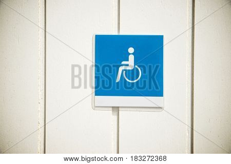 Entrance to a public bathroom for disabled people.