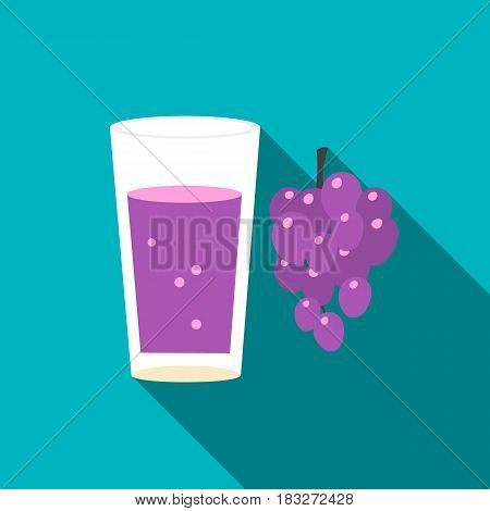 Grape juice icon of vector illustration for web and mobile design