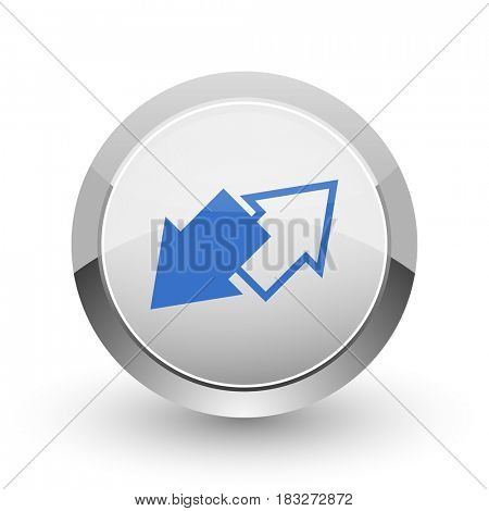 Exchange chrome border web and smartphone apps design round glossy icon.