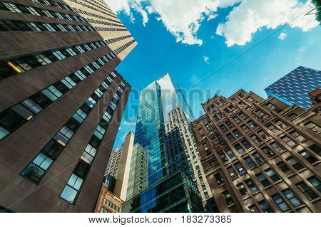 Nice Buildings in New York City on Sunny Day