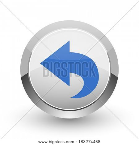 Back chrome border web and smartphone apps design round glossy icon.