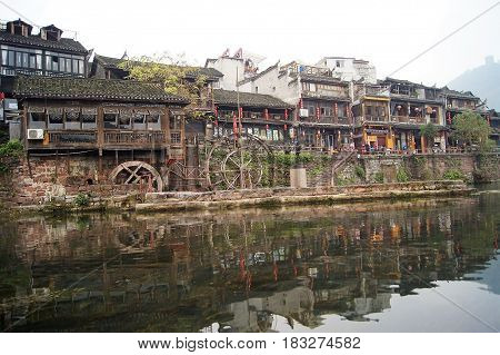 Fenghuang Ancient town is a UNESCO World Heritage site that is located in Hunan Province, China