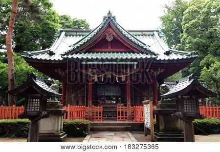 Ozaki Shinto shrine, popular in Ishikawa, Japan