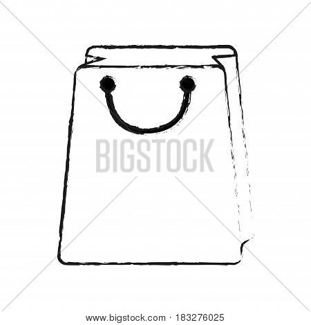shopping bag icon image vector illustration design  black sketch line